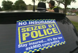 car can be seized for no insurance